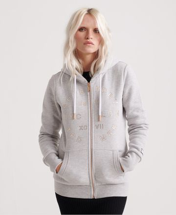 Superdry | NYC STUDIO FOIL ZIPHOOD