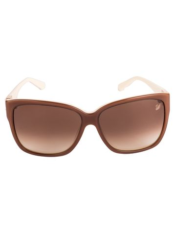 swarovski | SWAROVSKI Retro Square Sunglass with Brown  Lens for Women