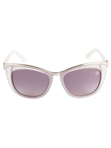 swarovski | SWAROVSKI Retro Square Sunglass with Grey  Lens for Women