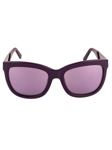 swarovski | SWAROVSKI Retro Square Sunglass with Purple  Lens for Women