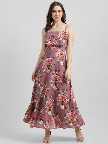 Zink London | Zink London Women's Mauve Printed Maxi Dress