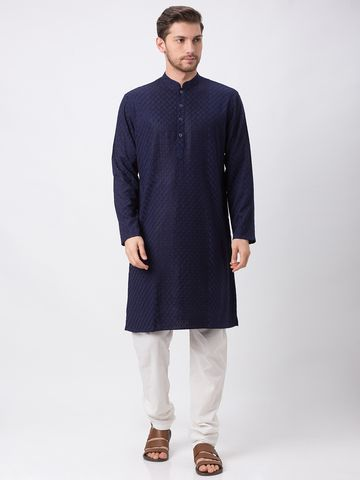 Ethnicity | Ethnicity Navy Polyester Cotton Kp Set