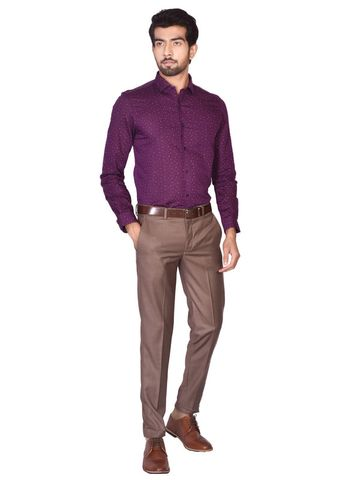Turtle | PURPLE TAILORED PRINTS SHIRT
