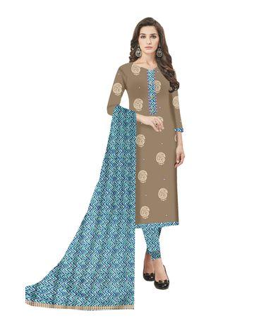 GF's | GF's Block Printed Designer Unstitched Dress Materials
