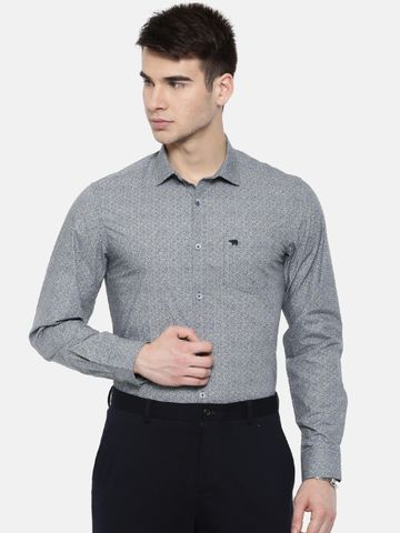 The Bear House | TBH PREMIUM PRINTED FORMAL SHIRT WITH SIDE PANELS