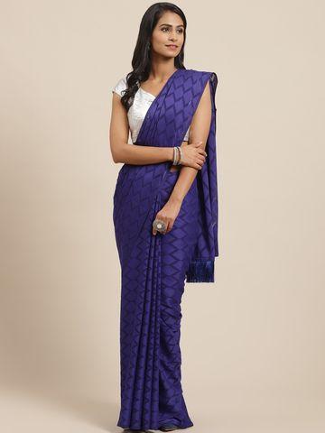 Vastranand | VASTRANAND Blue Woven Design Saree