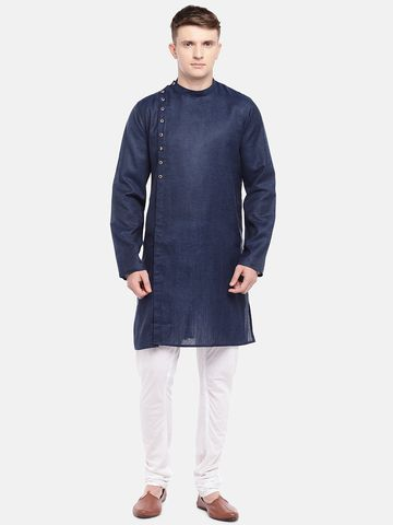 Ethnicity | Ethnicity Navy Cotton Viscose Men Kurta