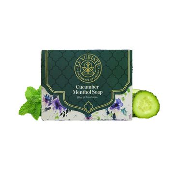 LUXURIATE | LUXURIATE Cucumber and Menthol Soap Bar for Fressness for Men and Women,125 gm