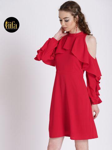 Zink London   Zink London Women's Red Sheath Dress