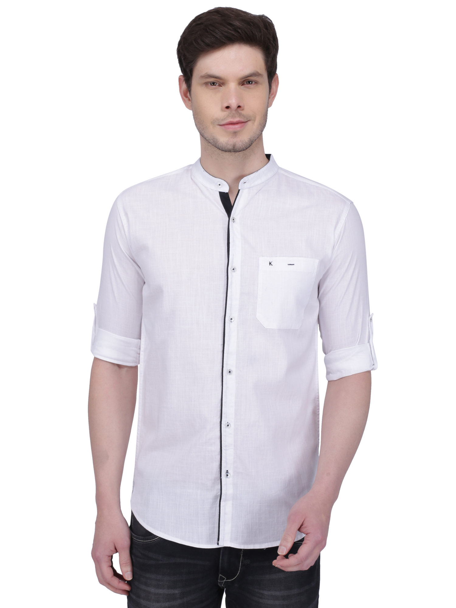 Kuons Avenue   Kuons Avenue Men's White Linen Cotton Casual Shirt- KACLFS1292WH