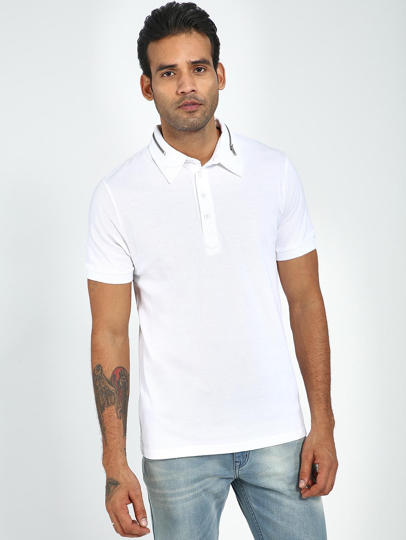 Blue Saint | Blue Saint Men's White Regular Fit T-Shirts