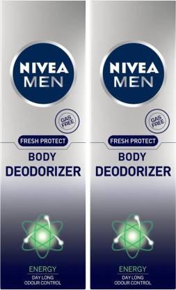 Nivea   NIVEA Men Fresh Protect Energy Deodorizer Body Spray Deodorant Spray - For Men