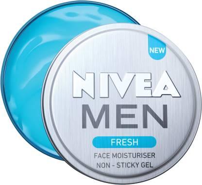 Nivea   NIVEA Men Fresh Face Moisturizer Gel, Non Sticky & Light Moisturization  (75 ml x2)