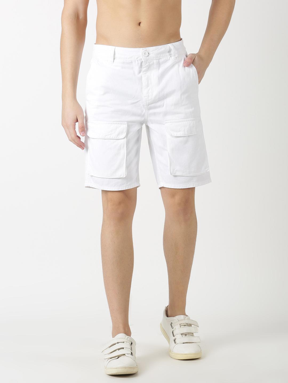 Blue Saint | Blue Saint Men'S Solid White Shorts