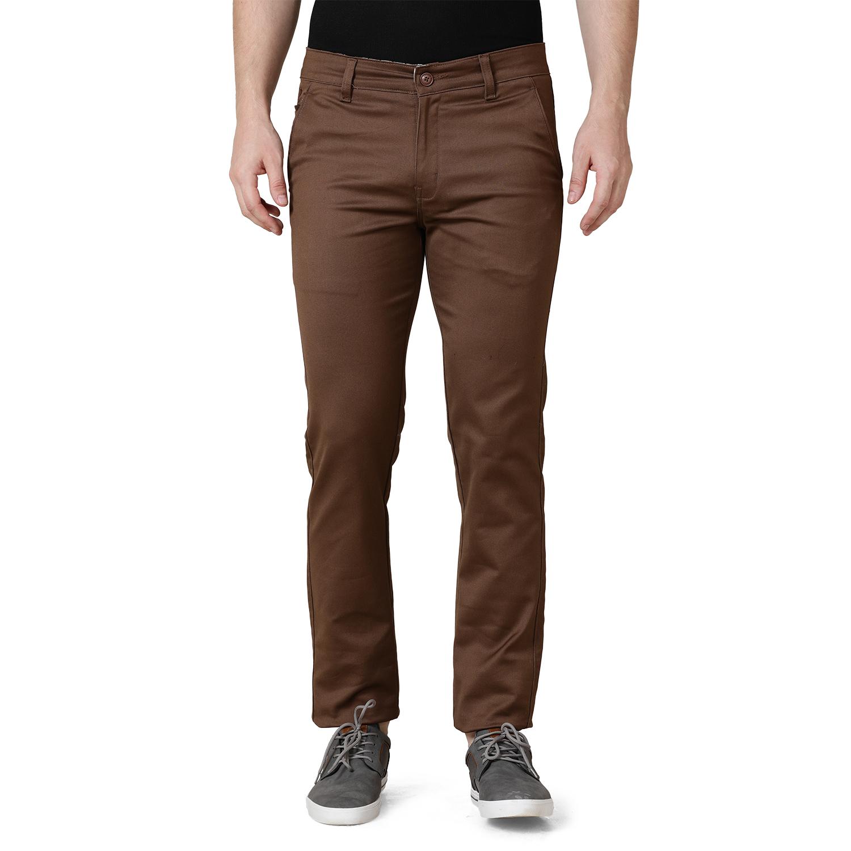 TAHVO | TAHVO men brown slim fit chinos