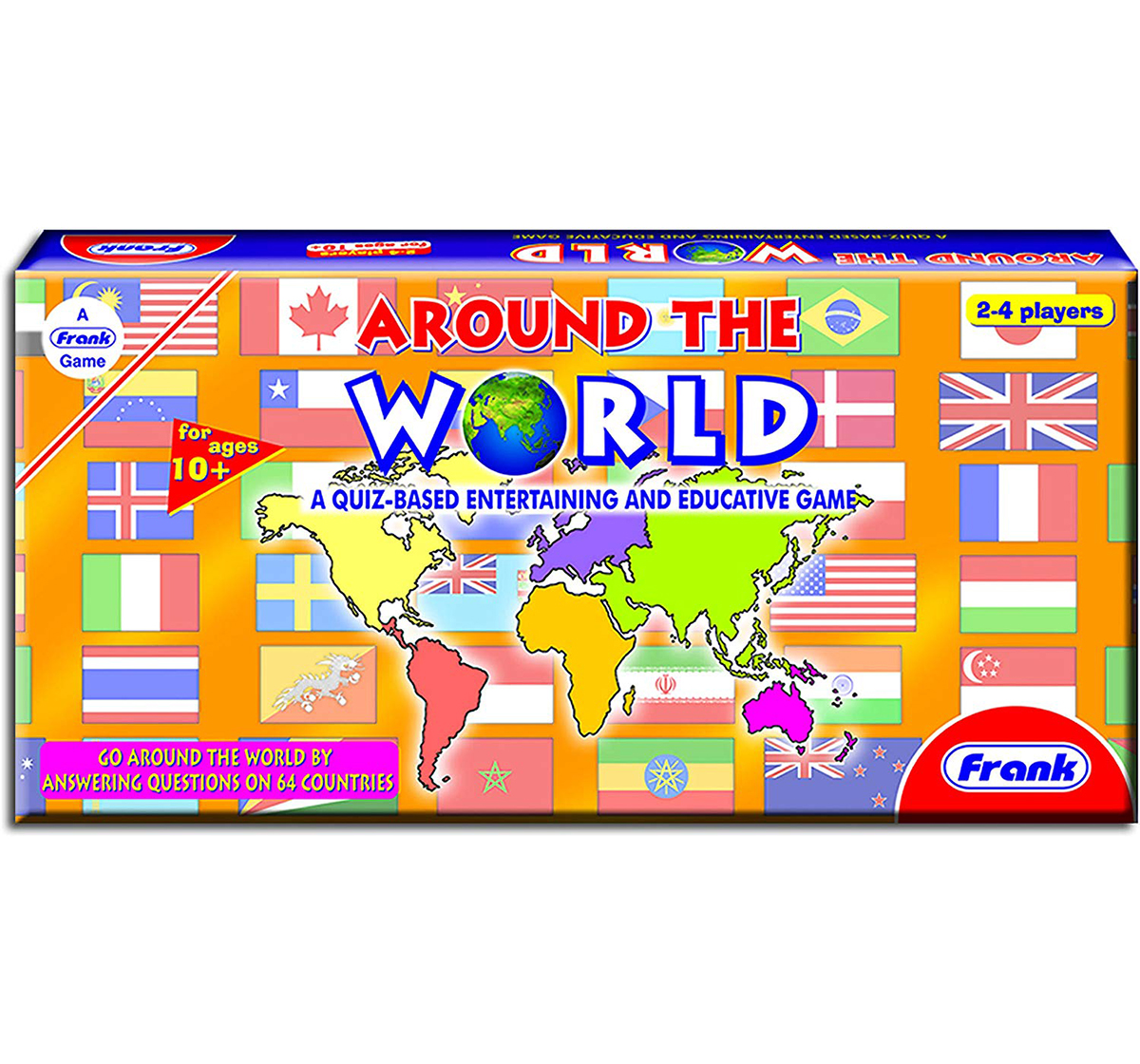 Frank | Frank Around The World  Board Game, Puzzles for Kids age 8Y+