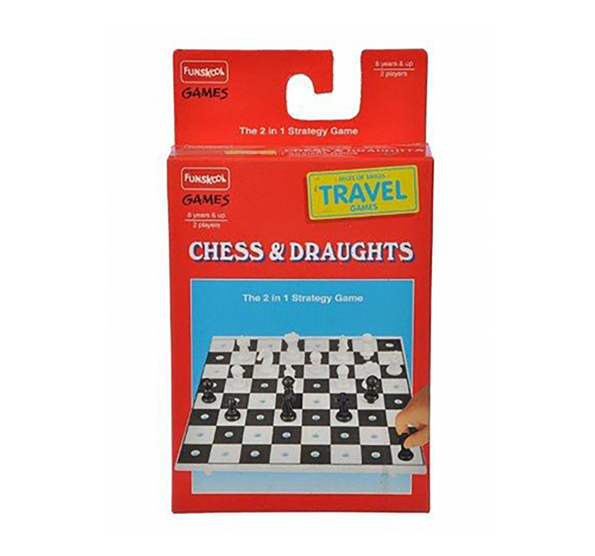 Funskool | Funskool Travel Chess & Draught Board Games for Kids age 8Y+