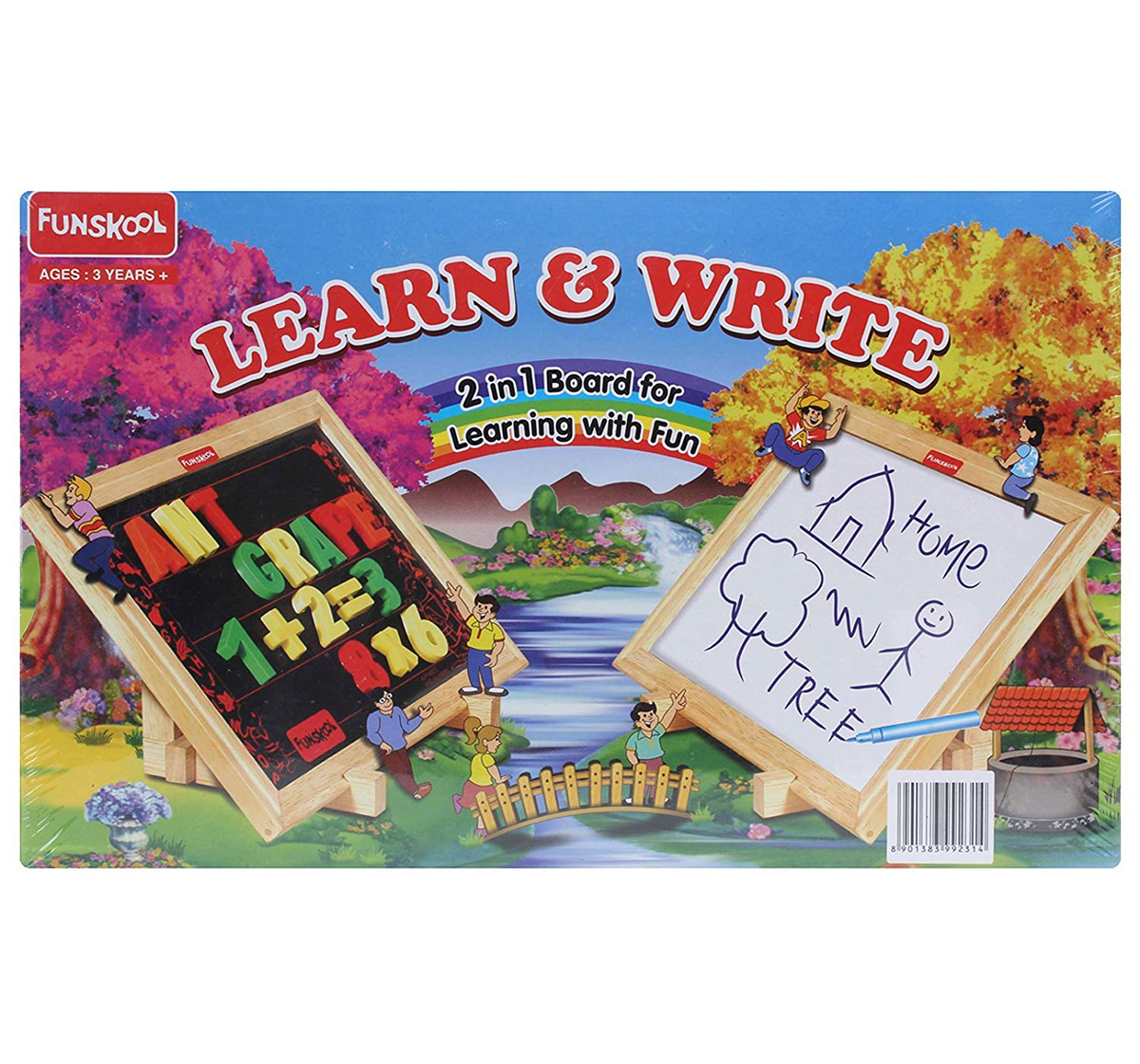 Giggles | Giggles Funskool Learn And Write Early Learner Toys for Kids age 3Y+ (White)