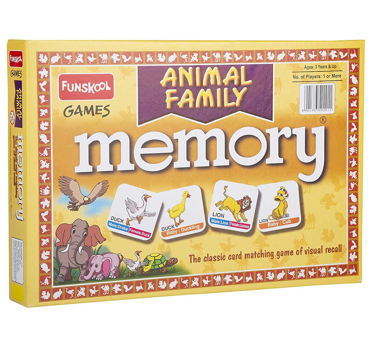 Funskool | Funskool Memory Animal Family for Board Game Kids age 12M+