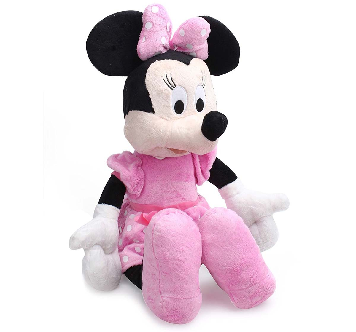 Disney | Disney Minnie Flopsie, 10 Inch Character Soft Toys for Kids age 12M+ 19 Cm