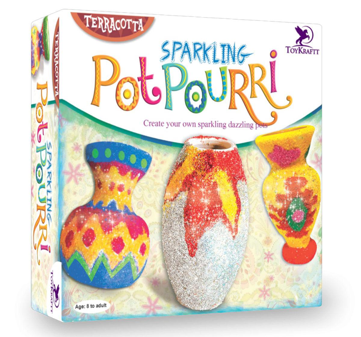 Toy Kraft | Toy Kraft Sparkling Pot Pourri DIY Art & Craft Kits for Kids age 8Y+