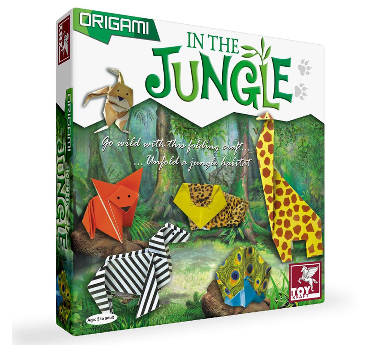 Toy Kraft | Toy Kraft Origami - In The Jungle, Multicolor, 5Y+
