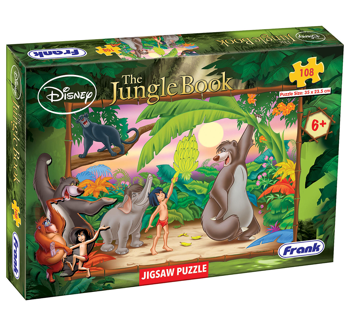 Frank | Frank The Jungle Book 108 Pcs Puzzles for Kids age 6Y+