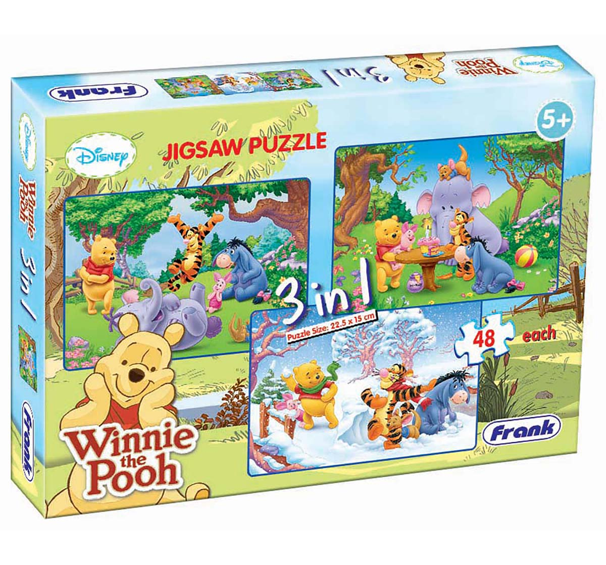 Frank | Frank Winnie The Pooh 3 In 1 Puzzle Puzzles for Kids Age 5Y+