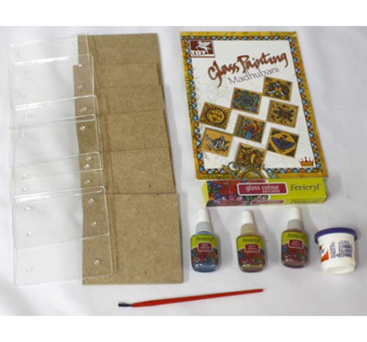 Toy Kraft | Toy Kraft Glass Painting Madhubani, Multicolor, 8Y+