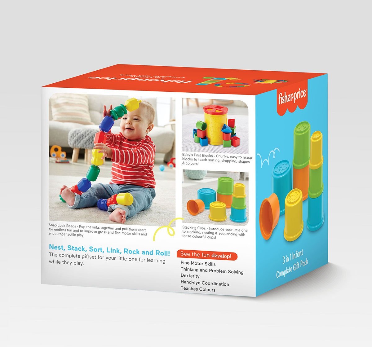 Fisher-Price | Fisher-Price 3-in-1 Infant Complete Giftpack  for Kids age 0M+