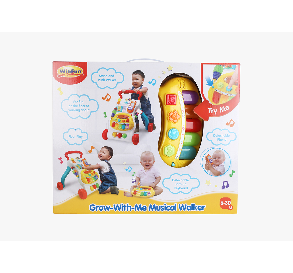 WinFun | Winfun Nl Grow-With-Memusical Walker Baby Gear for Kids age 0M+