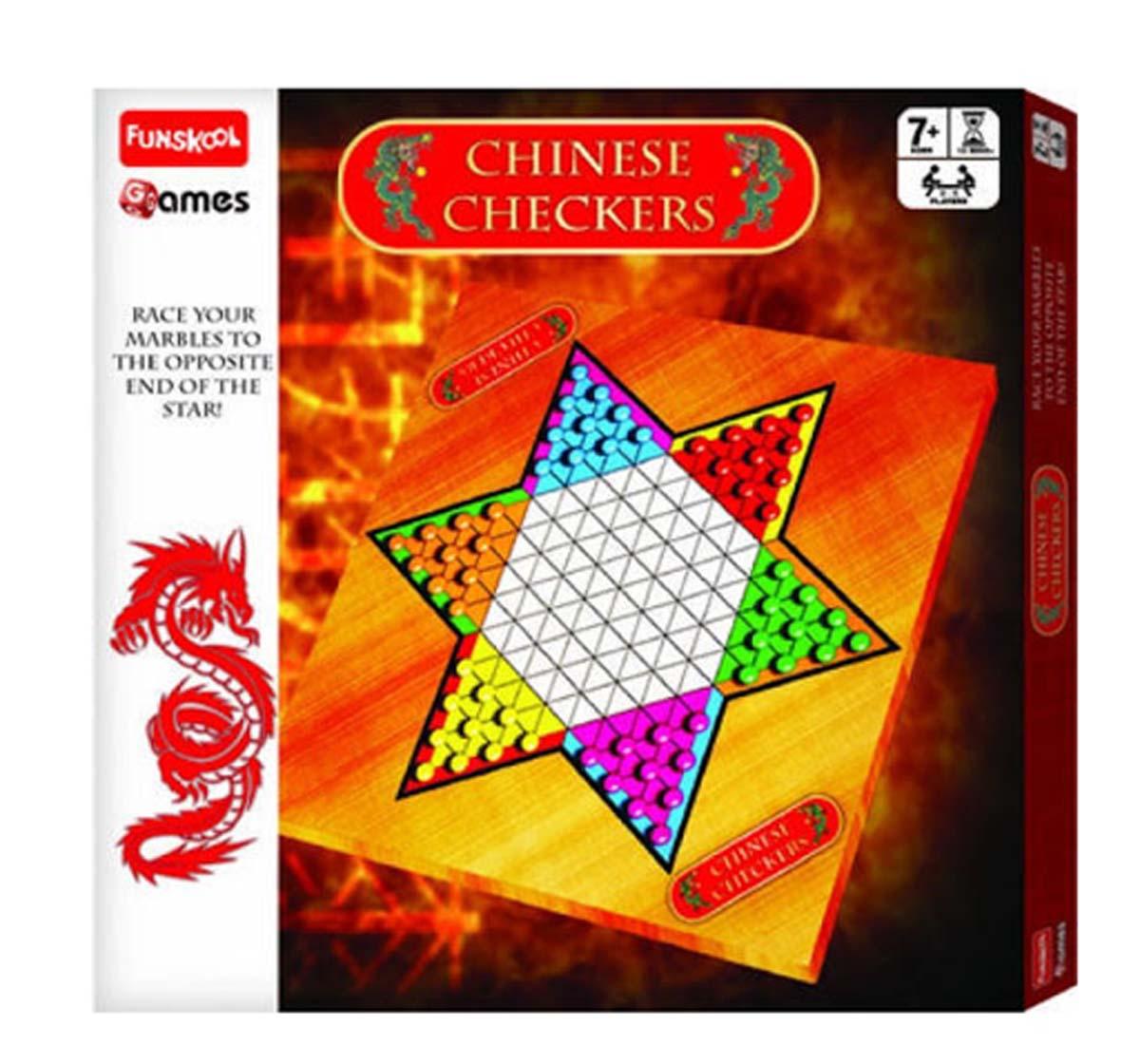 Funskool | Funskool Chinese Checkers - Board Game Board Games for Kids Age 7Y+