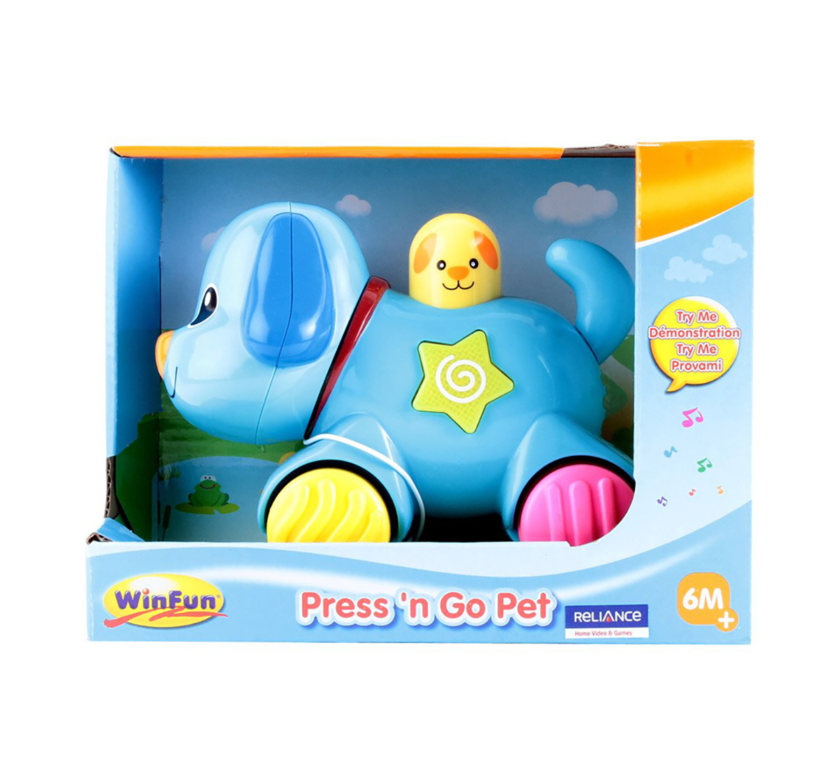WinFun   Winfun Press And Go Pet Puppy Early Learner Toys for Kids age 4Y+