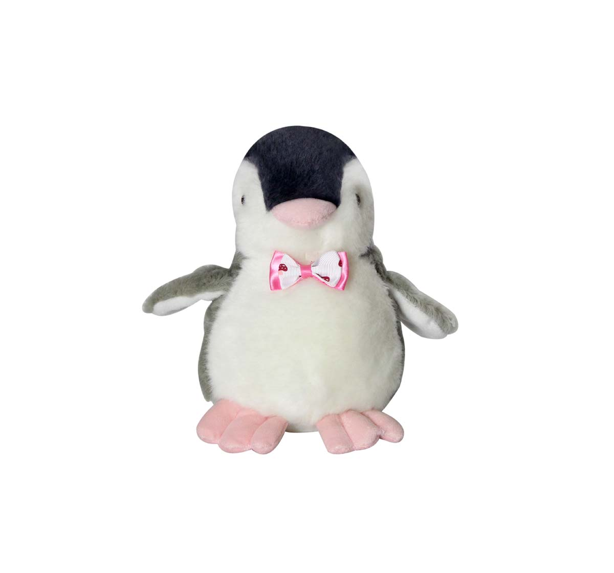 Soft Buddies | Soft Buddies Gray Fat Penguin Car Rear Tray Table Quirky Soft Toys for Kids age 12M+ 19.05 Cm