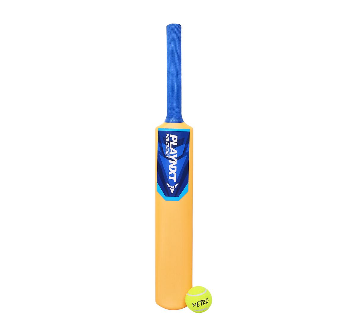 Playnxt | Playnxt Pro Cricket Bat No. 4 , 6Y+ (Ivory Yellow )