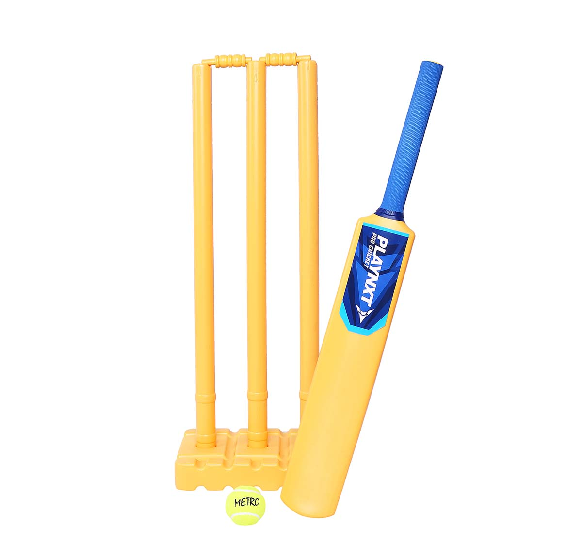 Playnxt | Playnxt Pro Cricket Set For Kids & Adults, 9Y+ (Ivory Yellow )