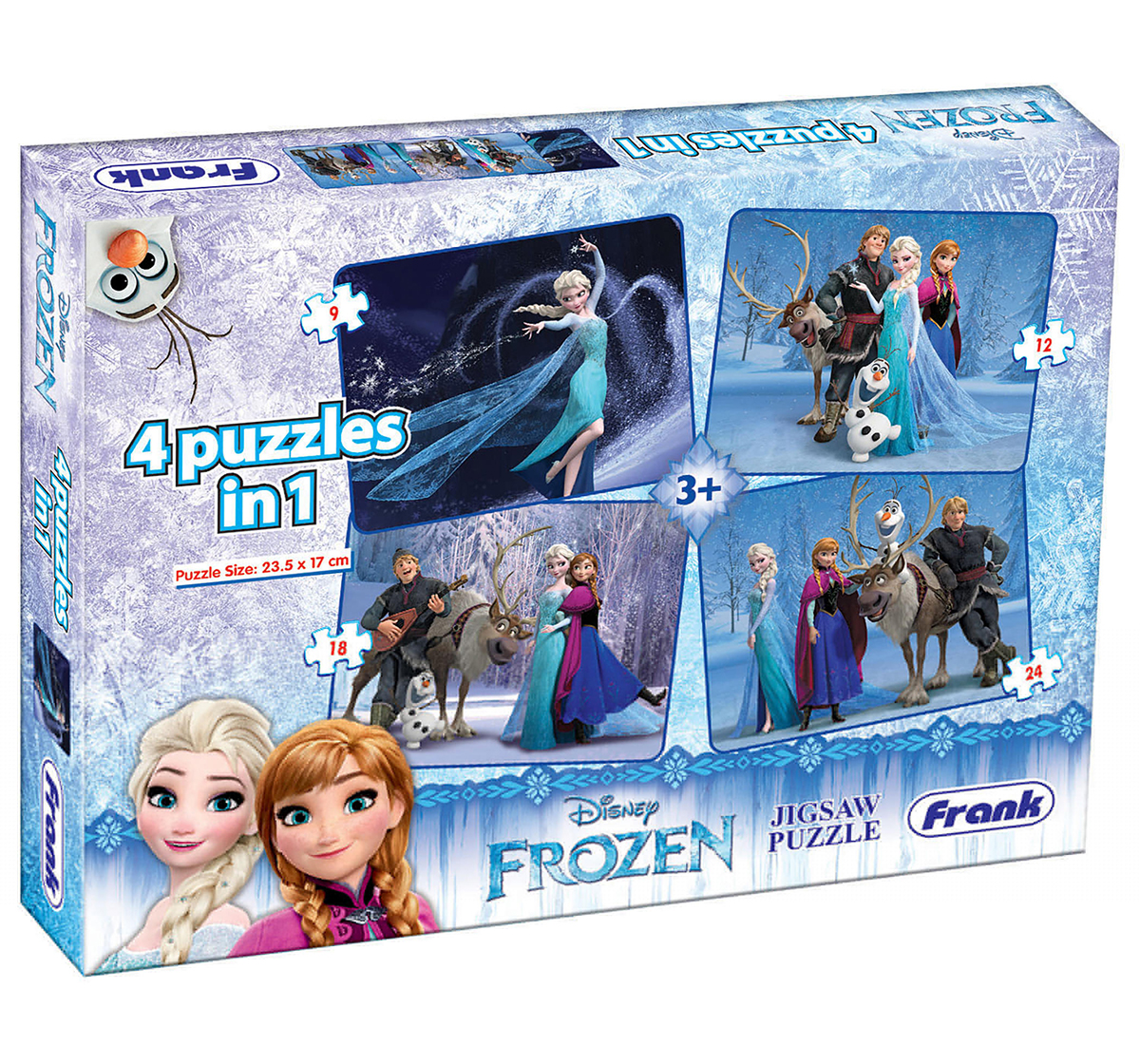 Frank | Frank Frozen 4 In 1 Puzzle Puzzles for Kids age 5Y+