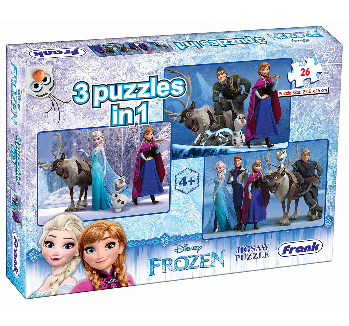 Frank |  Frank Frozen 3 In 1 Puzzle Puzzles for Kids age 5Y+