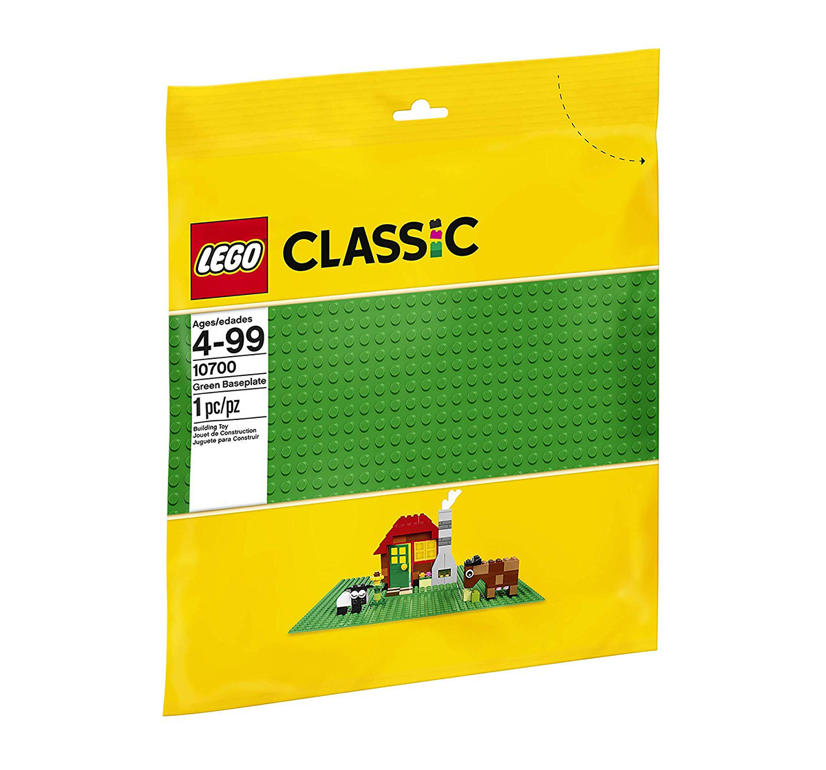 LEGO | Lego Classic Baseplate Supplement 10700 (Multi Color) Blocks for Kids age 4Y+ (Green)