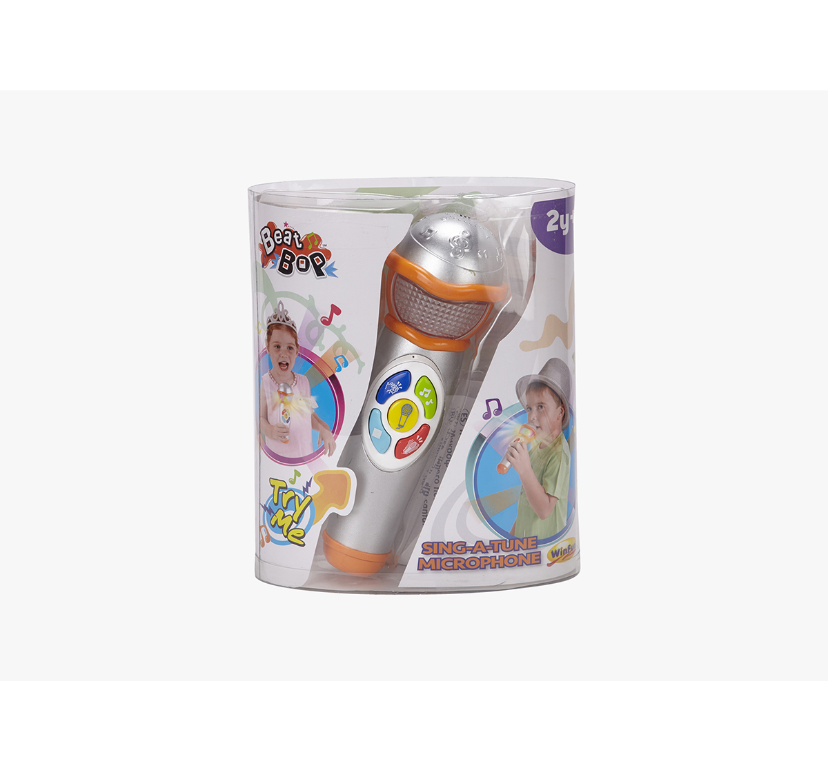WinFun | Winfun Sing-A-Tune Microphone Learning Toys for Kids age 24M+ (Silver)