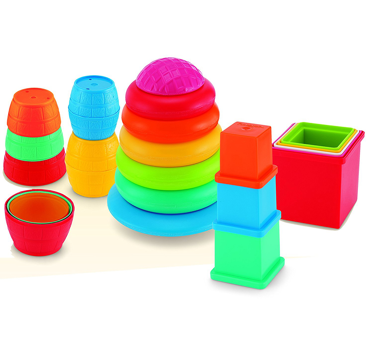 Giggles   Giggles Pull Stack 'N Link Toy Set New Born for Kids age 12M+