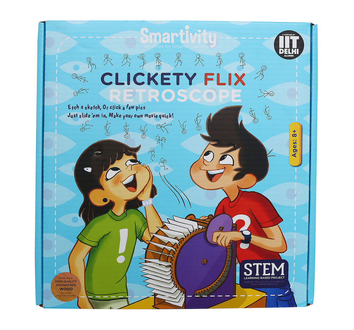 Smartivity | Smartivity Clickety Flix Retroscope :  Stem, Learning, Educational and Construction Activity Toy Gift for Kids age 8Y+  (Multi-Color)