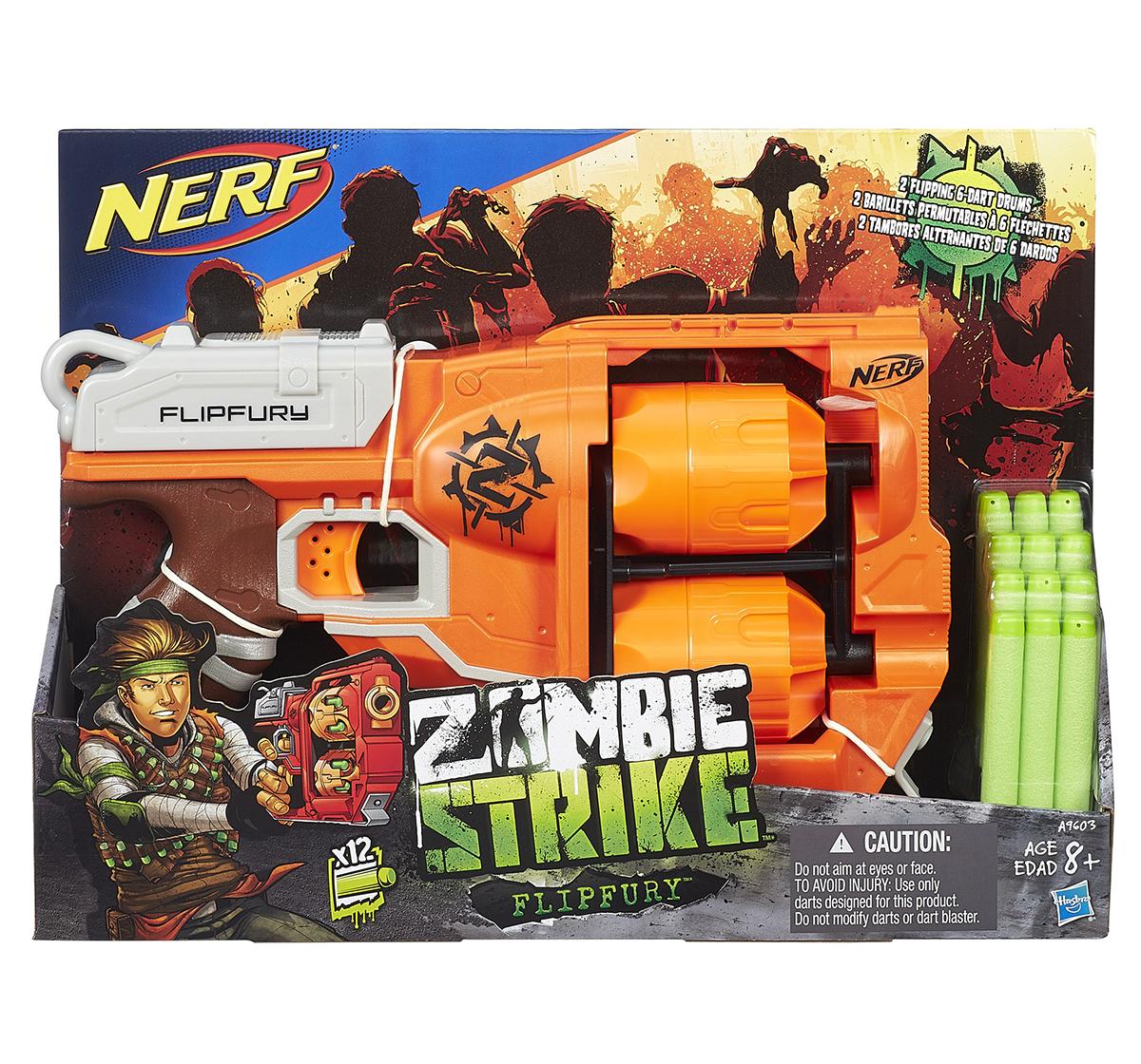 Nerf | Nerf Zombie Strike Flipfury Blasters for Boys age 8Y+