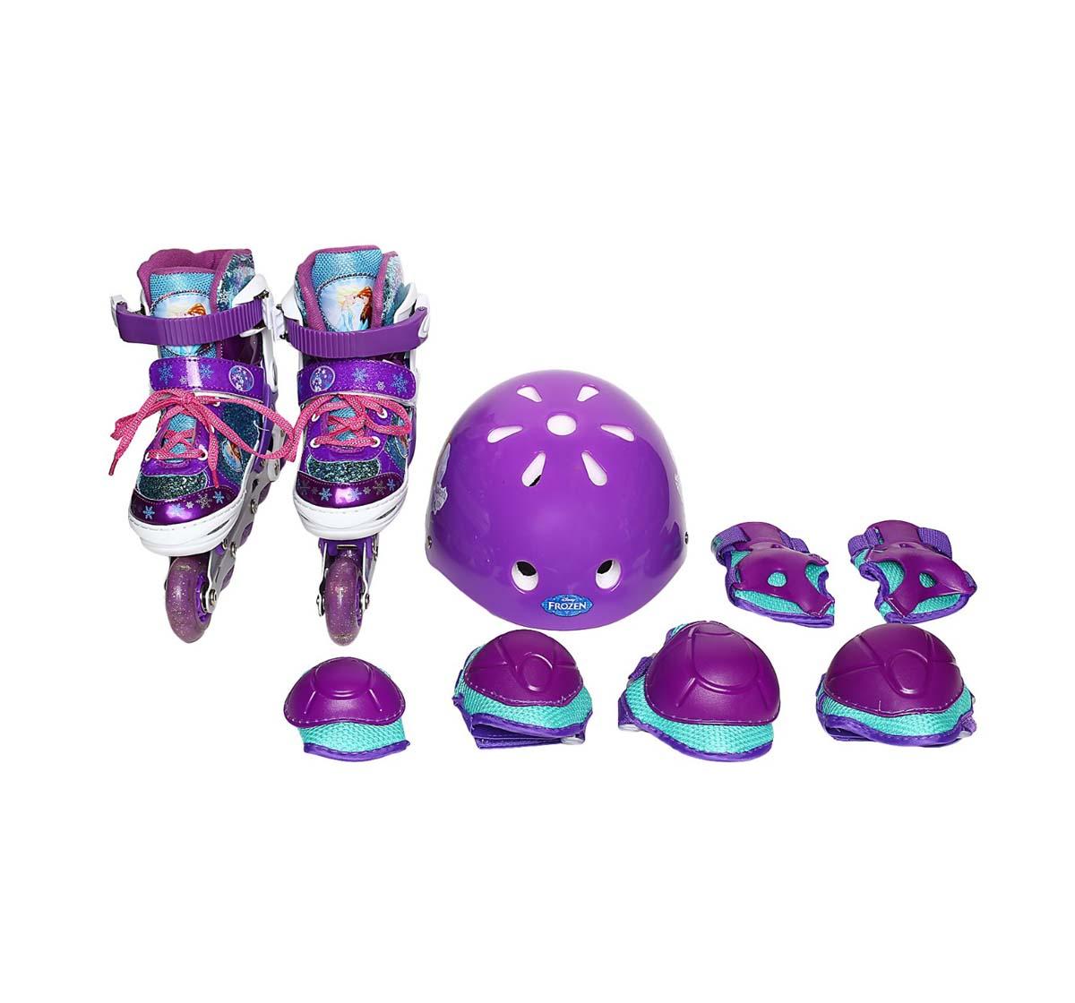 Disney | Disney Red Frozen Inline Skate Combo Set Skates and Skateboards for Kids age 8Y+ (Red)