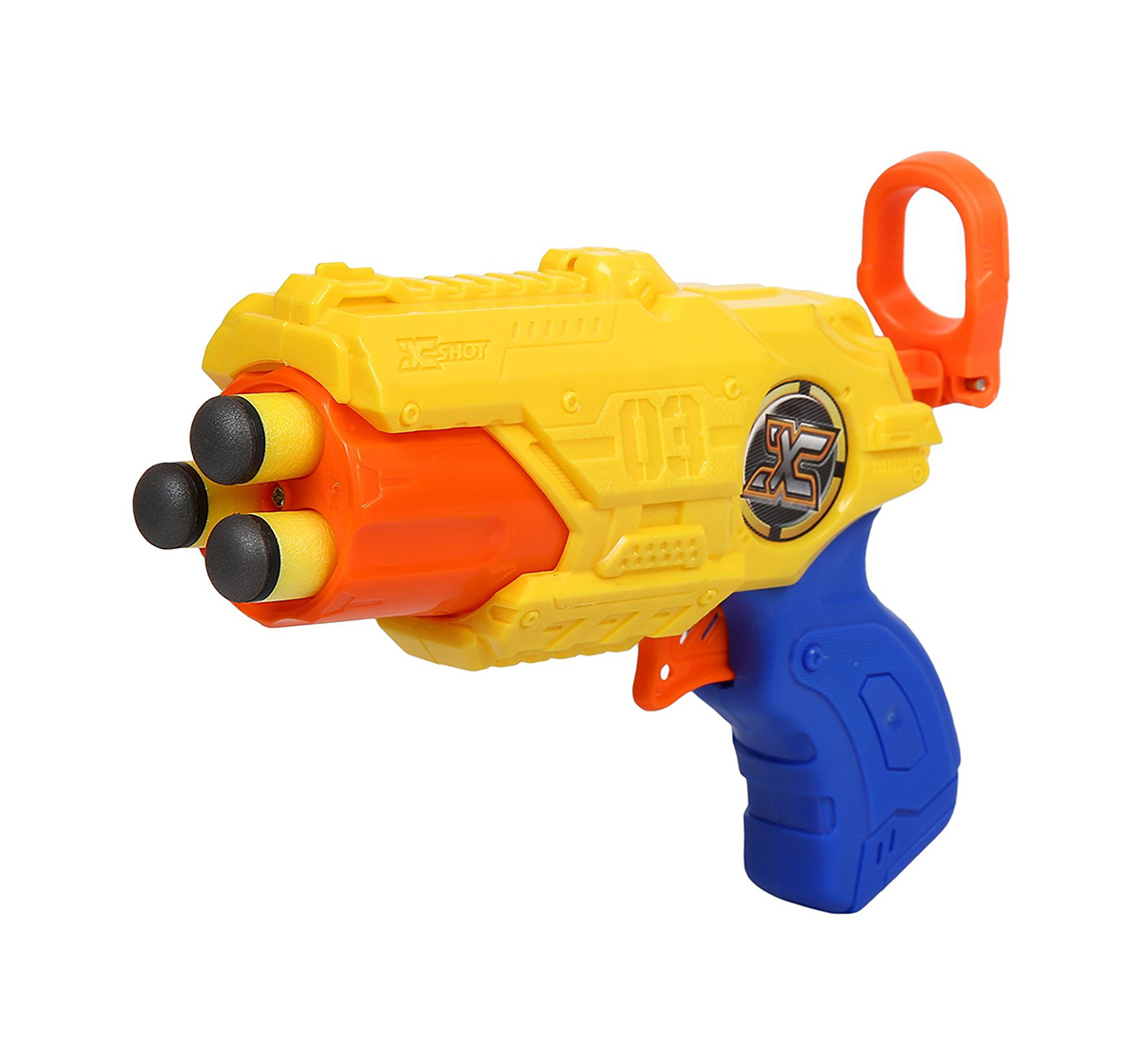 X-Shot | X-Shot Barrel Breaker Blaster Gun Tk-3 With 6 Darts, White Blasters for Kids age 8Y+ (Yellow)