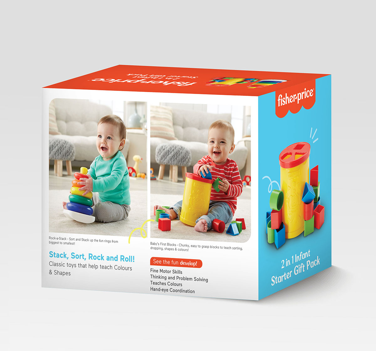Fisher-Price | Fisher-Price 2-in-1 Infant Starter Giftpack  for Kids age 0M+