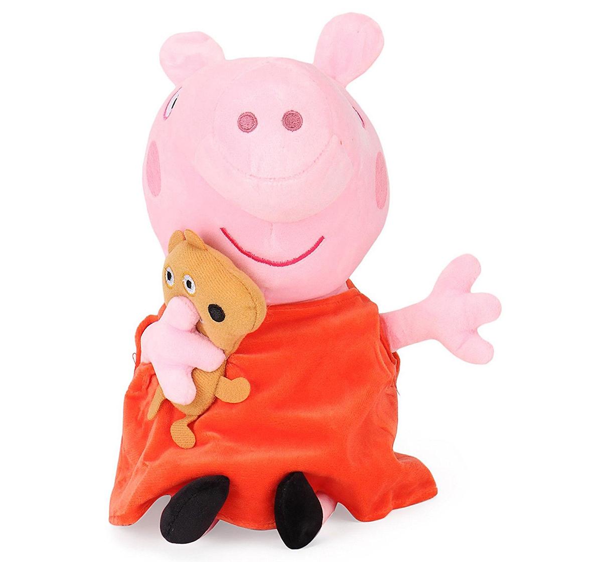 Peppa Pig | Peppa Pig with Bear 19 Cm Soft Toy for Kids age 2Y+ (Orange)