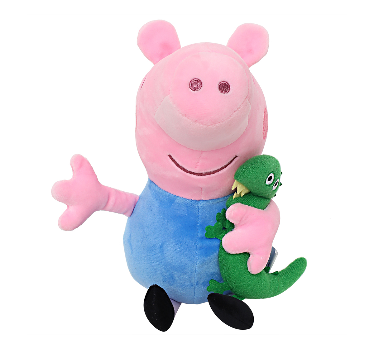 Peppa Pig | Peppa George Pig with Dinosaur 30 Cm Soft Toy for Kids age 2Y+ (Blue)