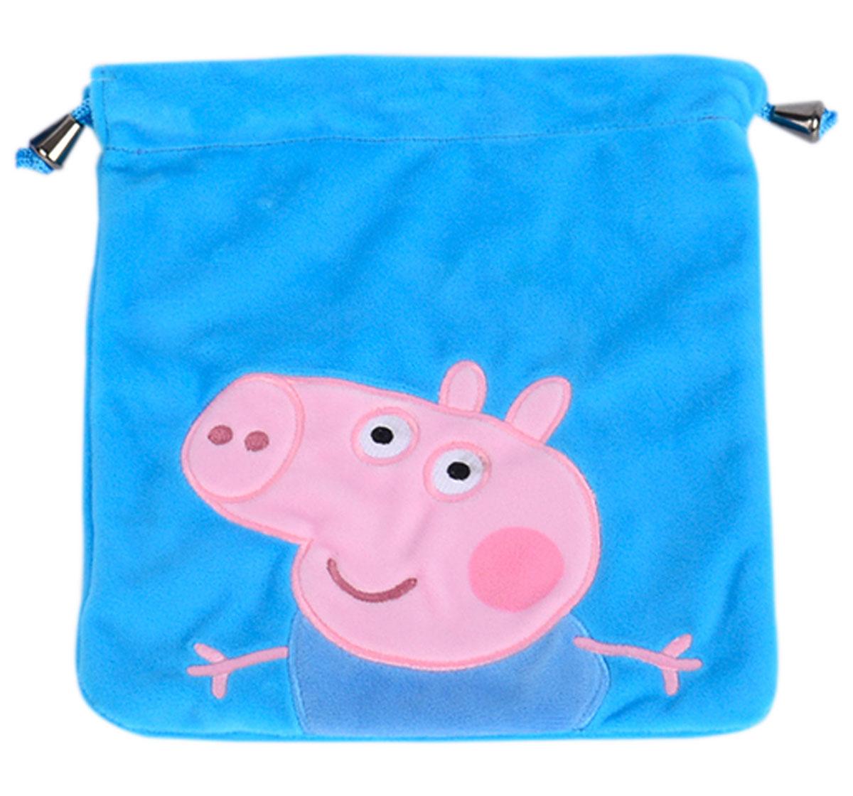 Peppa Pig   George Pig Blue Plush Toy Bag, 2Y+