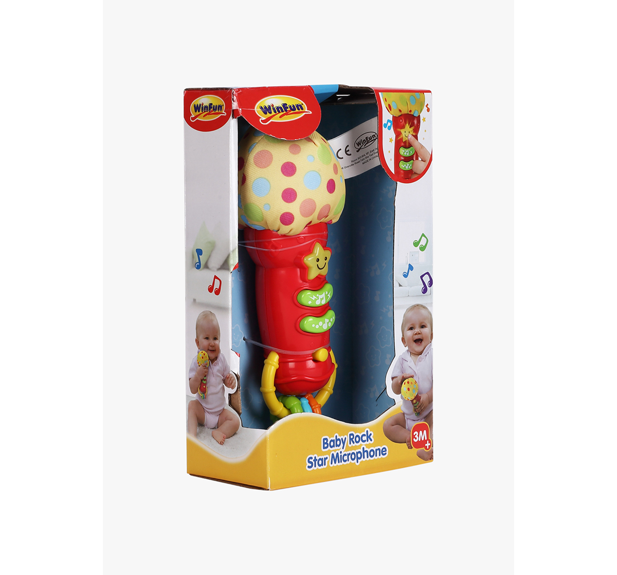 WinFun | Winfun Baby Rock Star Microphone - Mics for Kids age 3M+ (Red)